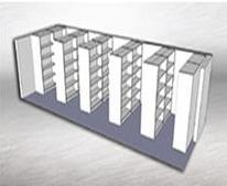 Traditional Static shelving  providing 120 linear metres of storage